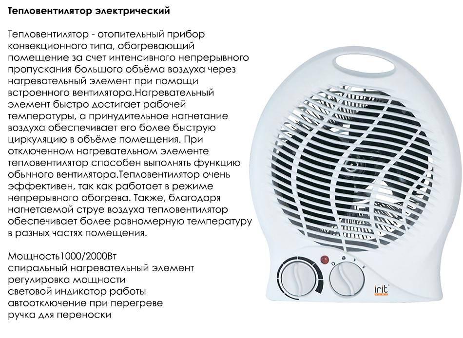 Как выбрать тепловентилятор - критерии выбора и рейтинг лучших моделей