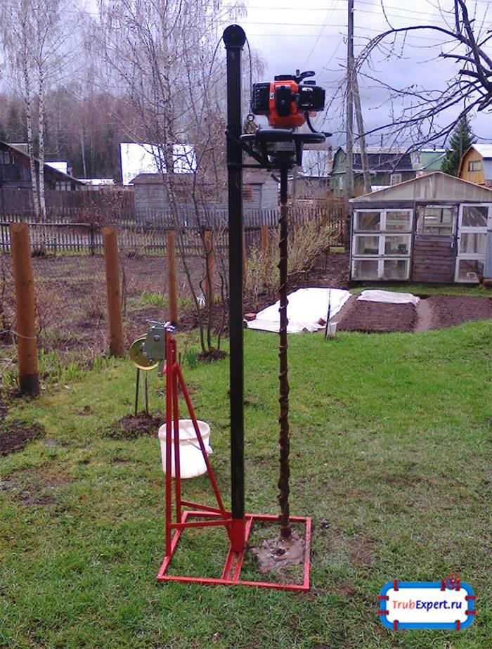 Самодельная буровая установка, чертежи мгбу для скважины на воду - byrilka