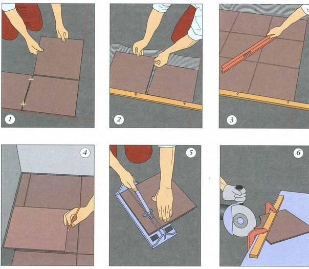 Как класть плитку на пол в ванной - подробная инструкция, расчеты и советы!