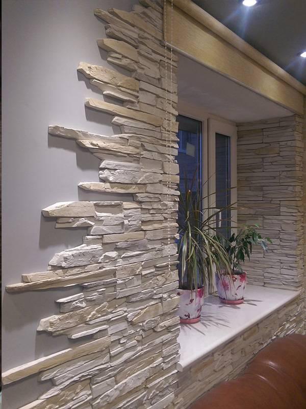 Камень в интерьере – идеи декора