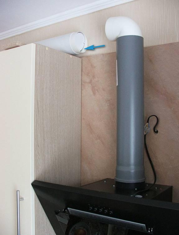 Подключение кухонной вытяжки к вентиляции своими руками