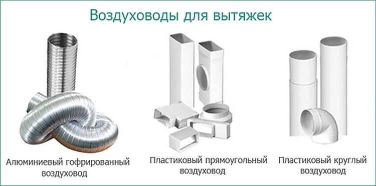 Вытяжка для кухни с воздуховодом: разновидности воздуховодов