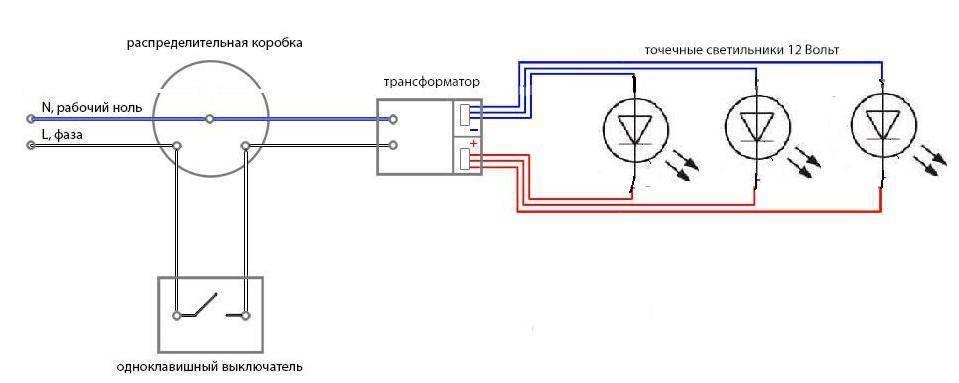 Как подключить светодиодный светильник к 220 в, схема подключения к сети, как правильно подсоединить лед-лампу на 12 вольт > свет и светильники