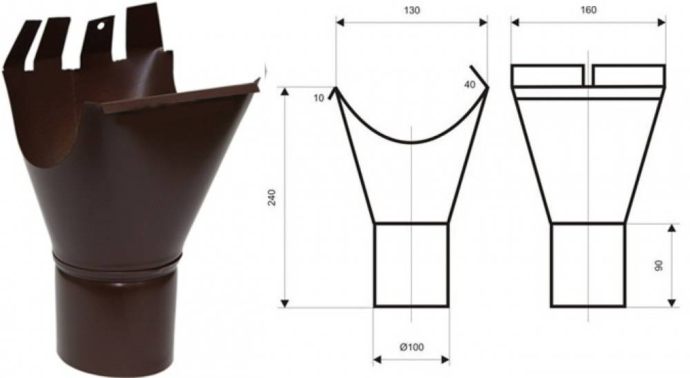 Водосток плоской кровли — специфика сооружения внутренней и наружного вариантов