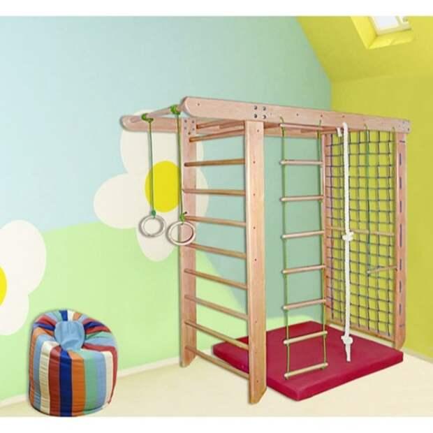 Детский спортивный комплекс для дома: деревянный распорный спорткомплекс для детей в квартиру, домашние напольные и пристенные спортивные комплексы