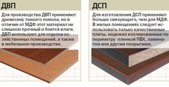 Лдсп и дсп: в чем разница? чем они отличаются визуально и что лучше в мебели?