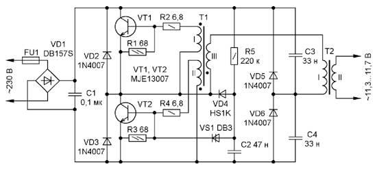 Выбор и монтаж трансформатора для галогенных ламп