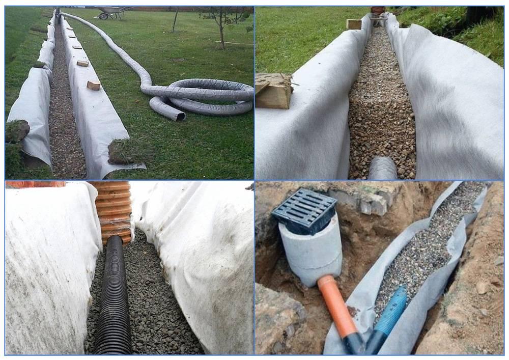 Дренажная труба: трубопровод для дренажа, керамические, гибкие пластиковые большого диаметра, какие бывают