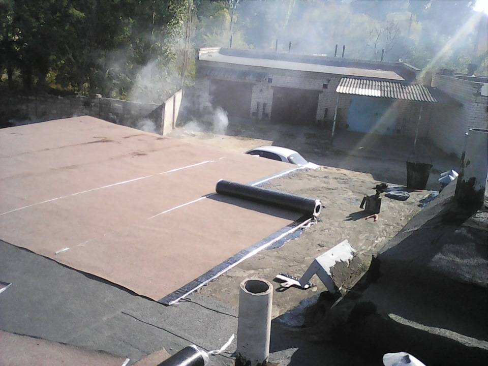 Кровля крыши рубероидом