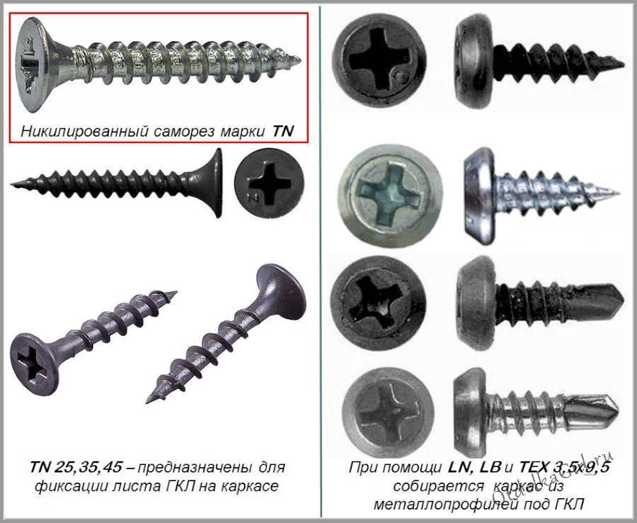 Разнообразие и использование саморезов по металлу