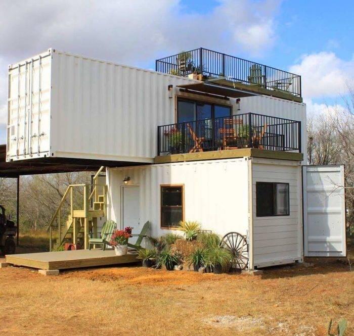 Дом из бытовок (57 фото): проекты модульных домиков для постоянного проживания, идеи дизайна интерьера, обустройство жилья внутри