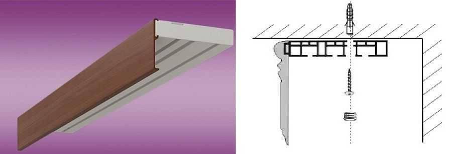 Установка потолочного карниза: 5 способов монтажа