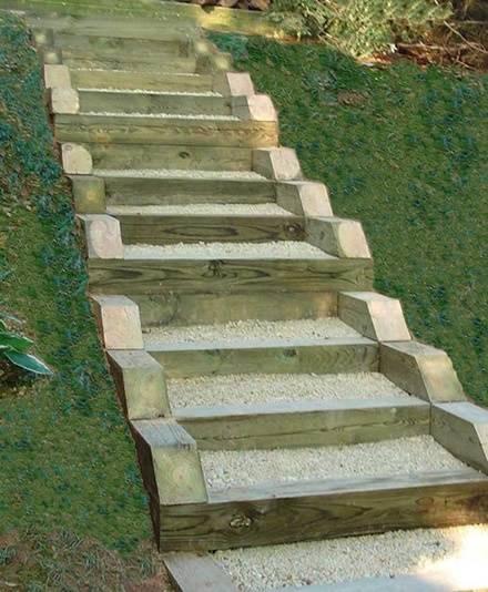 Как сделать ступеньки на садовом участке