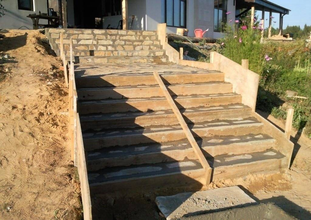 Как сделать ступени для крыльца своими руками: расчеты и монтажн из бетона, дерева и металла