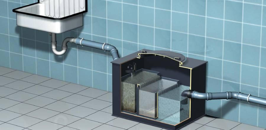 Жироуловитель для канализации из столовой: виды оборудования, советы по выбору, установка