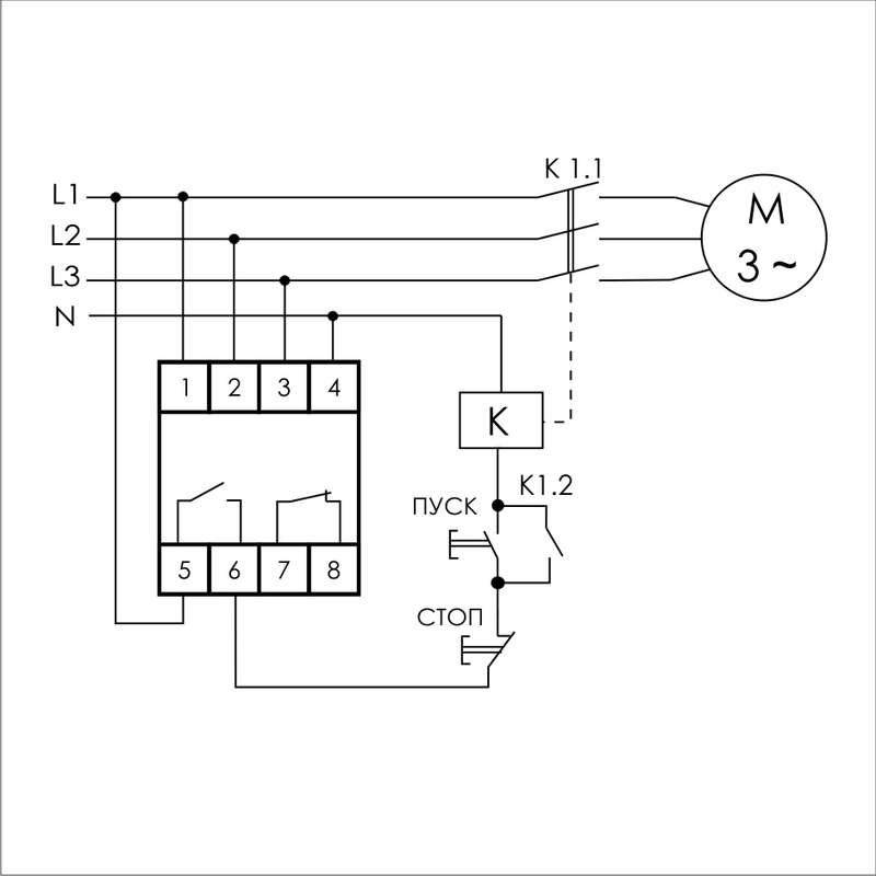 Реле контроля фаз - принцип работы, схема подключения – самэлектрик.ру