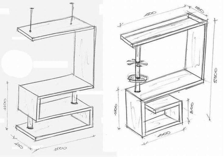 Высота барной стойки на кухне от пола: стандартные размеры, ширина и длина столешницы