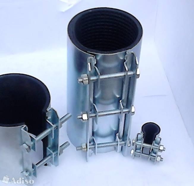 Хомут ремонтный для труб водоснабжения: обжимной бандаж для ремонта трубопроводов, водопроводных металлических труб, виды аварийных стяжных хомутов