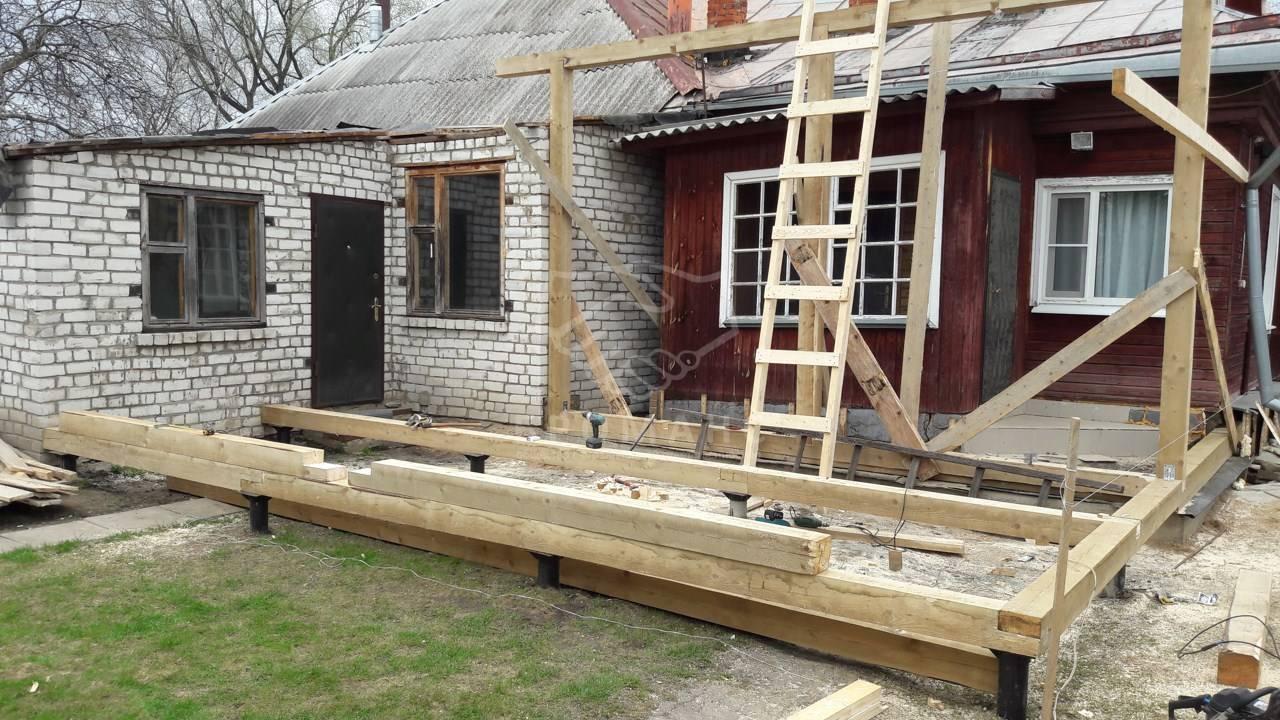 Как сделать фундамент под пристройку к кирпичному дому самостоятельно | stroimass.com