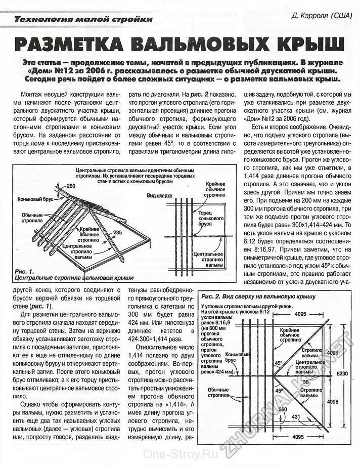 Расчет стропильной системы вальмовой крыши: как все сделать правильно и избежать ошибок