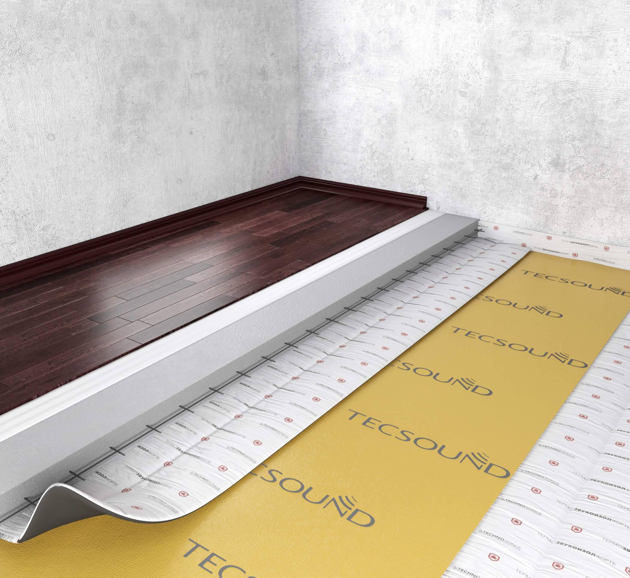 Звукоизоляция пола в квартире под стяжку: шумоизоляция с помощью подложки, какие материалы лучше, как сделать своими руками