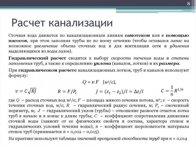Расчет ливневой канализации - алгоритм и онлайн-калькулятор