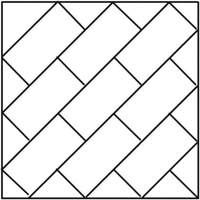Укладка плитки по диагонали на пол: укладка прямоугольной плитки с видео инструкцией
