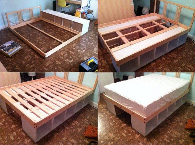 Кровать своими руками: проектирование, дизайн и этапы изготовления кровати (видео + 75 фото)