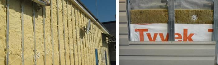 Монтаж и обшивка утеплителя под сайдинг для кирпичного дома