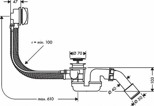 Слив для ванны: устройство и установка   ремонт и дизайн ванной комнаты
