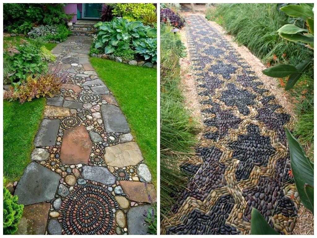 Заливаем бетонные садовые дорожки своими руками