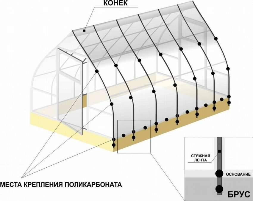 Как сделать поликарбонатную теплицу