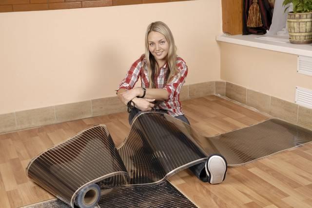 Теплый пол под линолеум на деревянный пол: технология монтажа водяного и инфракрасного теплого пола