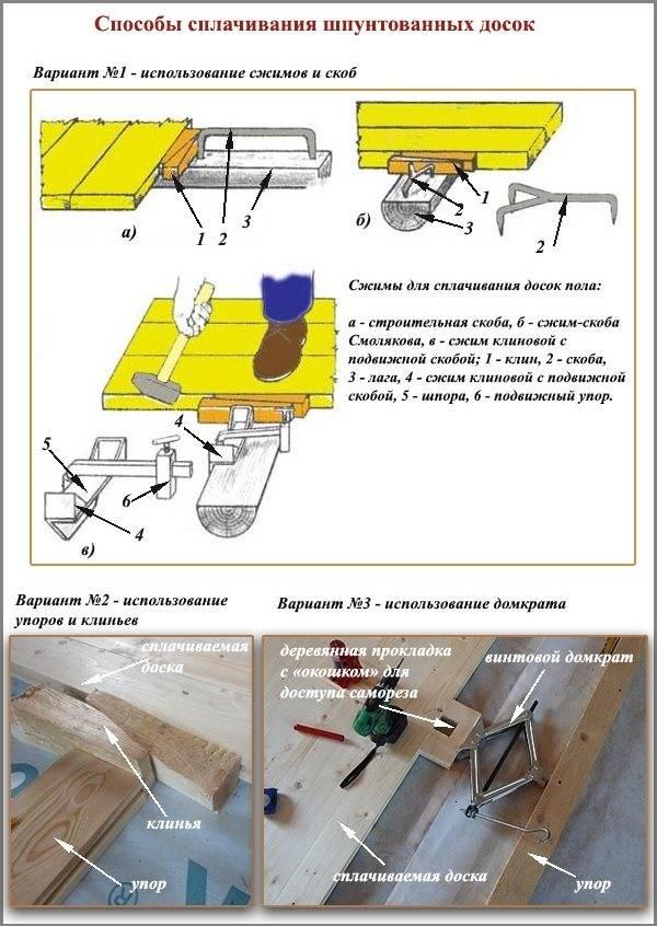 Укладка шпунтованной доски своими руками: правила работ