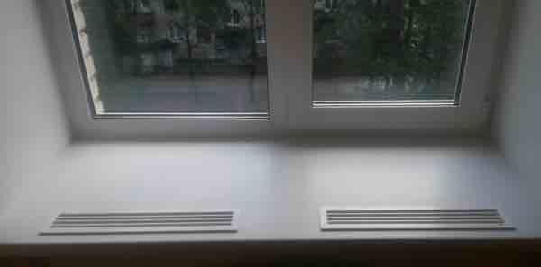 Зачем нужна вентиляционная решетка для подоконника? - строй-шпаргалка