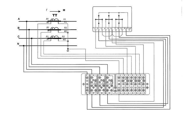 Как подключить счетчик меркурий через трансформаторы тока