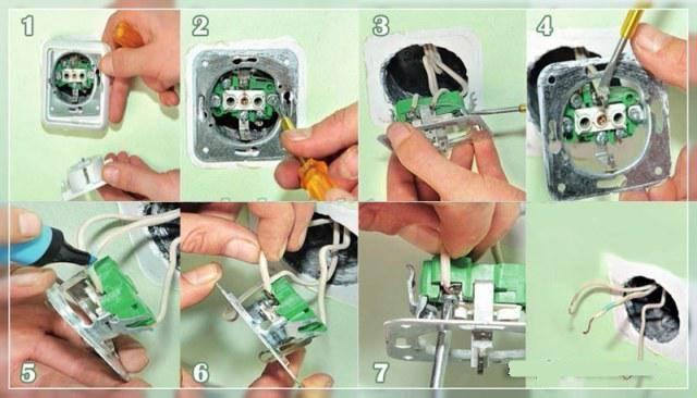 Замена наружной розетки на внутреннюю — выкладываем по полочкам