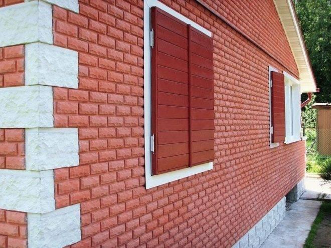 Отделочные материалы для фасадов частных домов под кирпич