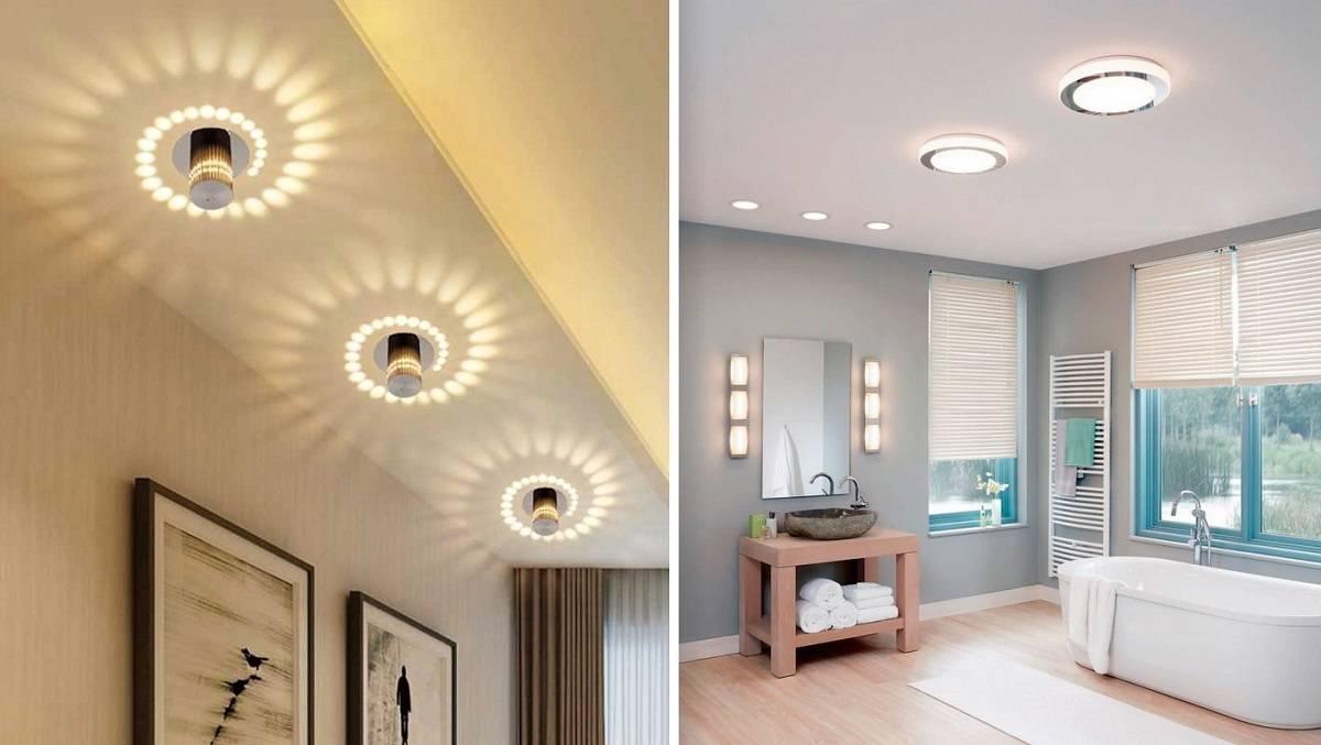 Светильники для натяжных потолков точечные, подвесные, подсветка – какие лучше, как подобрать лампы