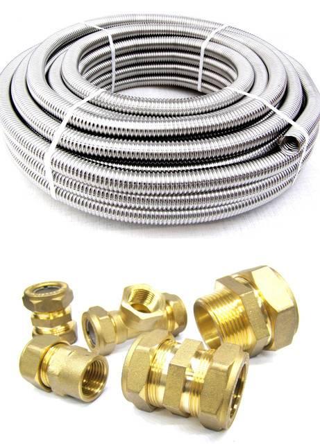Выбор и монтаж металлической гофрированной трубы для отопления