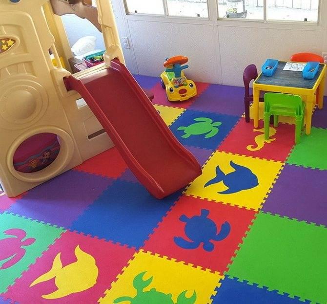 Мягкий пол для детских комнат: сравнительный обзор подходящих напольных покрытий