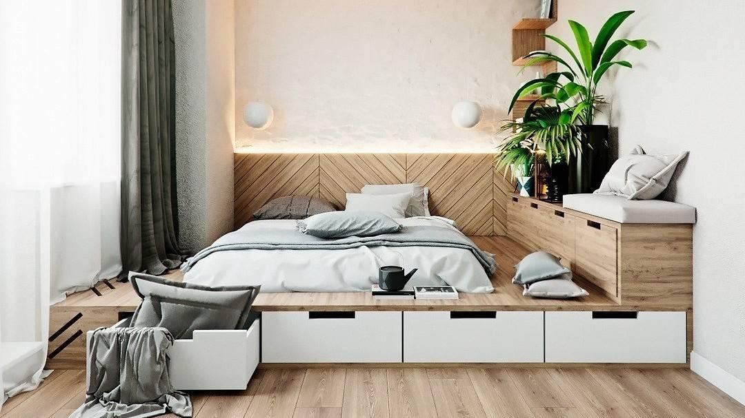 Подиум для кровати: особенности, преимущества, сборка