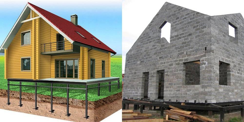 Свайный фундамент под дом из пеноблоков: строим сами
