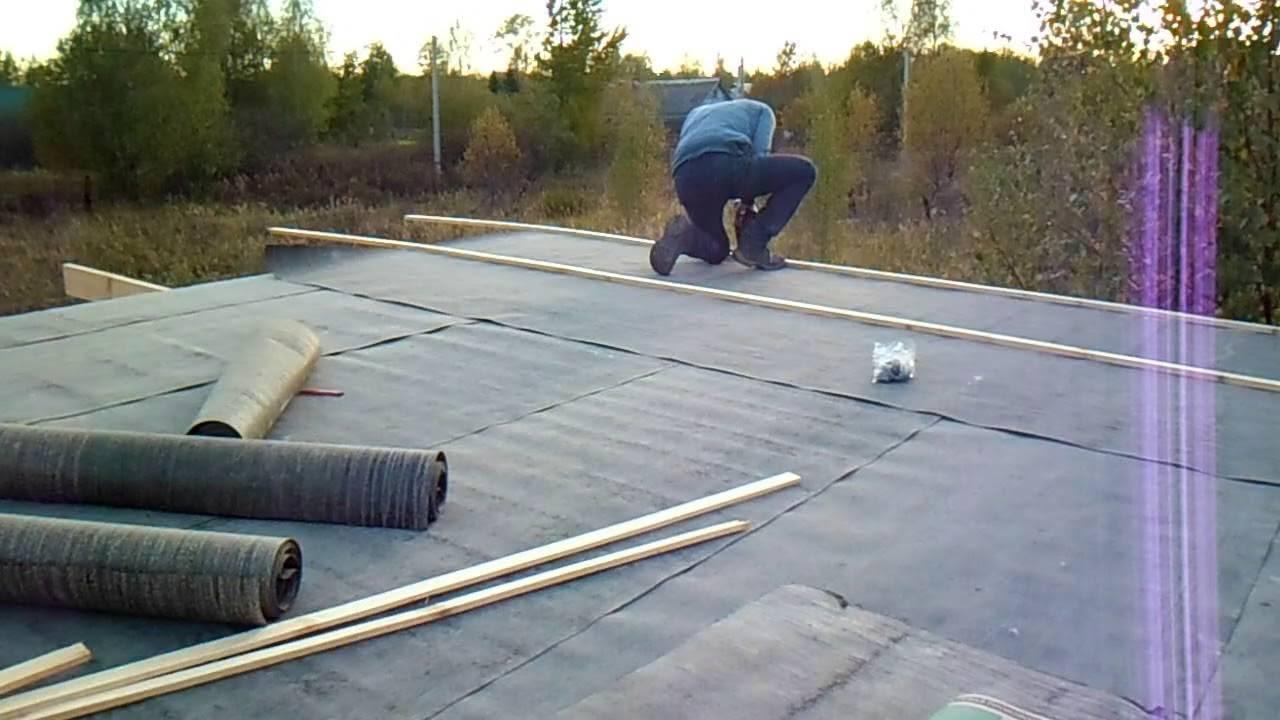 Как правильно покрыть крышу рубероидом своими руками, стоимость работ — пошаговое видео, фото