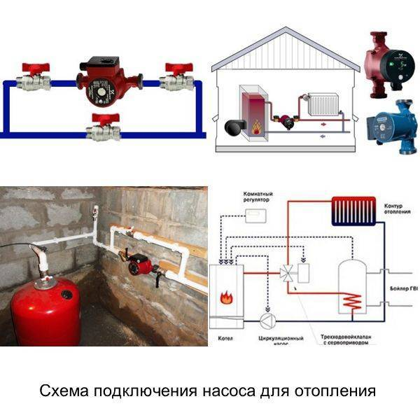 Подключение и установка дополнительного насоса в систему отопления