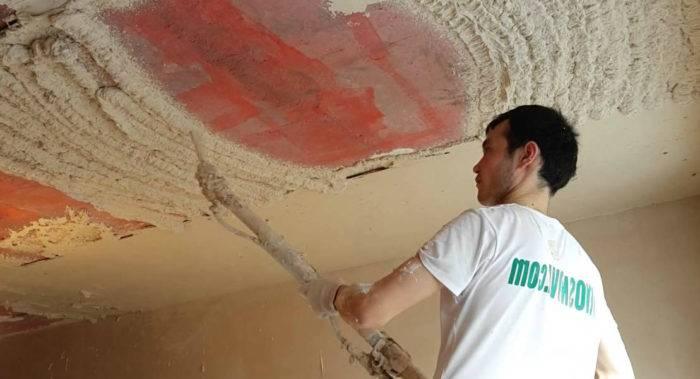 Штукатурка потолка в квартире своими руками: пошаговый порядок работ