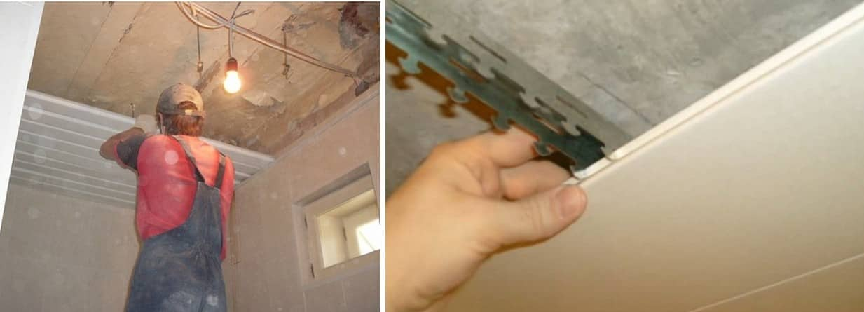 Установка реечного потолка в ванной комнате своими руками — какой лучше выбрать (пошаговое видео, фото)
