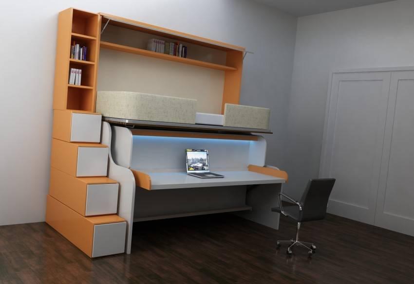 Кровать шкаф рабочий стол. трансформируемая мебель (35 фото)