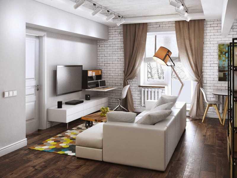 Дизайн двухкомнатной квартиры (152 фото): проект интерьера типового жилища, идеи ремонта для помещения площадью 44 кв. м, красивый вариант для малогабаритной «двушки»