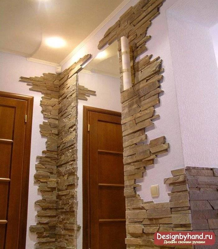Декоративная стена под камень своими руками из обычного цемента